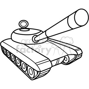 battle tank outline clipart. Commercial use image # 398006