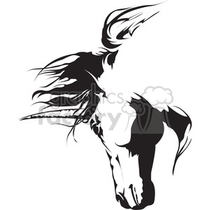 unicorn head illustration clipart. Royalty-free image # 398016