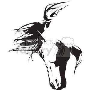 unicorn unicrons fantasy horse flying black+white magical