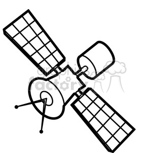 cartoon satellite illustration graphic animation. Royalty-free animation # 398036