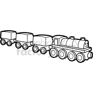 black white toy train illustration graphic clipart. Royalty-free image # 398046