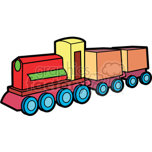 wooden train illustration graphic clipart. Royalty-free image # 398066