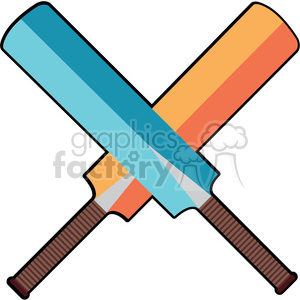 cricket bats design clipart. Royalty-free image # 398106