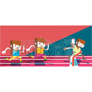 olympic runners character illustration clipart. Commercial use image # 398116