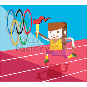 olympic runner character illustration clipart. Royalty-free image # 398146