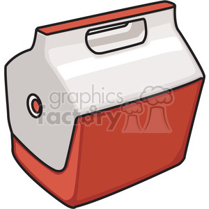 red closed cooler clipart. Royalty-free image # 398206