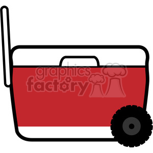 red pull wheeled cooler icon clipart. Royalty-free image # 398226