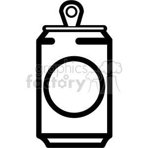 soda can icon with round label clipart. Royalty-free image # 398246