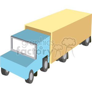 cartoon semi truck clipart. Royalty-free image # 398256