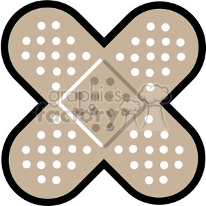crossed band aids outlined clipart. Royalty-free image # 398266