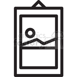 hanging picture icon clipart. Royalty-free icon # 398321
