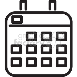 calendar icon clipart. Royalty-free image # 398341