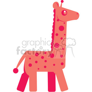 Pink_Giraffe vector image RF clip art clipart. Royalty-free icon # 398448