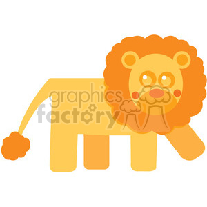 Curly_Hair_Lion vector image RF clip art