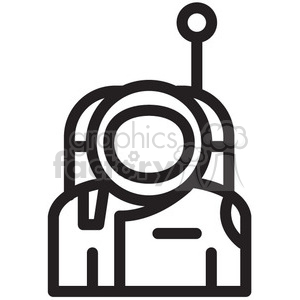 astronaut ready for space vector icon clipart. Commercial use image # 398468
