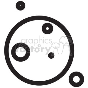 planet with moons vector icon clipart. Royalty-free icon # 398478