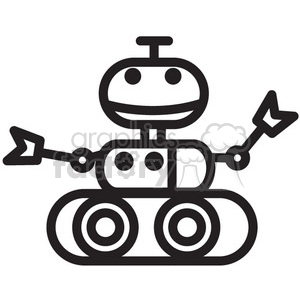smiling robot space rover vector icon clipart. Royalty-free image # 398518