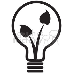 light bulb vector icon clipart. Royalty-free image # 398548
