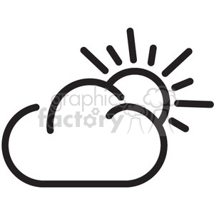 weather partly cloudy vector icon clipart. Royalty-free icon # 398556