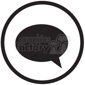 icon icons black+white outline symbols SM vinyl+ready chat message messaging talk social social+media