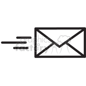icon icons black+white outline symbols SM vinyl+ready mail envelope email message send
