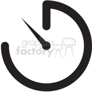 icon icons black+white outline symbols SM vinyl+ready timer time alarm watch
