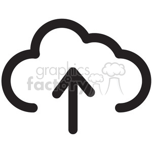 upload to the cloud data vector icon