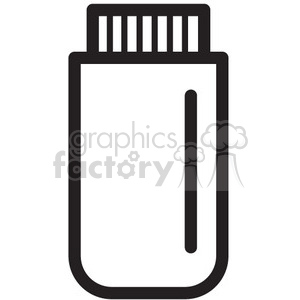 usb plug vector icon clipart. Royalty-free image # 398594