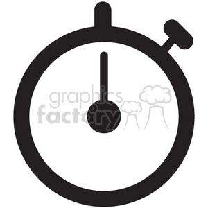 stopwatch vector icon clipart. Royalty-free image # 398604