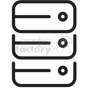 servers vector icon clipart. Royalty-free image # 398624