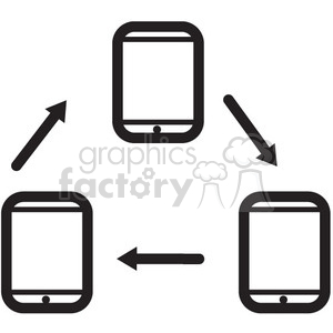 connected devices vector icon clipart. Royalty-free image # 398634