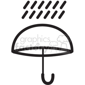 weather rain umbrella vector icon clipart. Royalty-free image # 398648