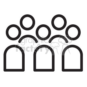 icon icons black+white outline symbols SM vinyl+ready people group protest network connections
