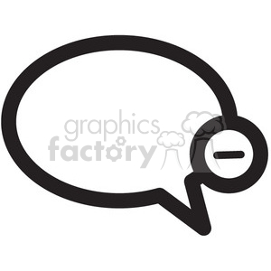 remove chat vector icon clipart. Royalty-free image # 398683