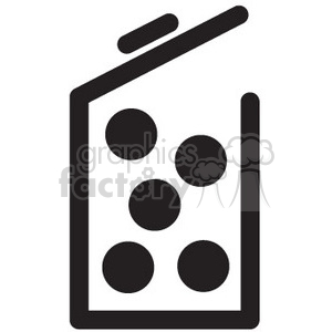 full container vector icon clipart. Royalty-free image # 398738