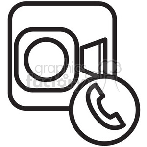 icon icons black+white outline symbols SM vinyl+ready video chat talk facetime