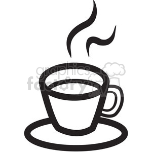 outline of coffee cup with steam clipart. Commercial use image # 141592