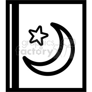 islam star and crescent outline symbol vector icon clipart. Royalty-free image # 398837