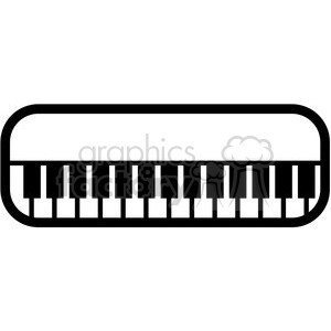 piano keyboard vector icon clipart. Royalty-free image # 398857