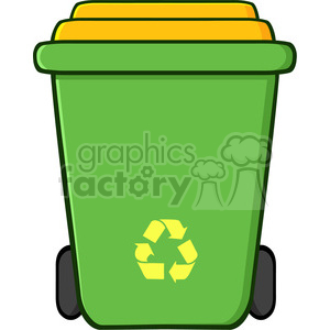 royalty free rf clipart illustration green recycle bin cartoon vector illustration isolated on white background clipart. Royalty-free image # 398897