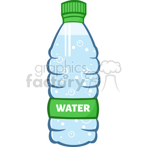 royalty free rf clipart illustration water plastic bottle cartoon illustratoion vector illustration isolated on white clipart. Commercial use image # 398944