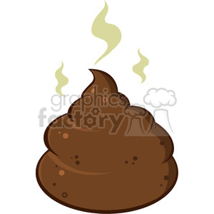 royalty free rf clipart illustration cartoon pile of smelly poop vector illustration isolated on white clipart. Royalty-free image # 399232