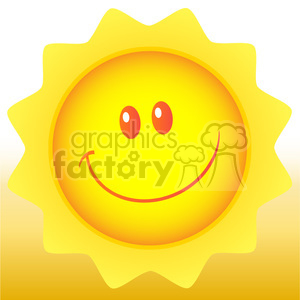 royalty free rf clipart illustration happy sun cartoon mascot character vector illustration with background clipart. Royalty-free image # 399311