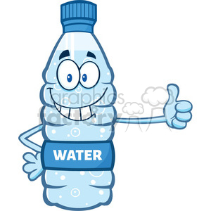 illustration cartoon ilustation of a water plastic bottle mascot character giving a thumb up vector illustration isolated on white background clipart. Commercial use image # 399532