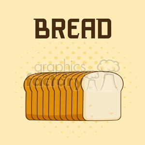 illustration cartoon bread loaf poster design with text vector illustration background clipart. Royalty-free image # 399542