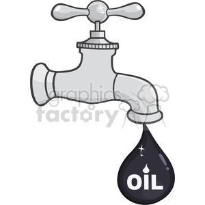 royalty free rf clipart illustration faucet with petroleum or oil drop design with text vector illustration isolated on white background