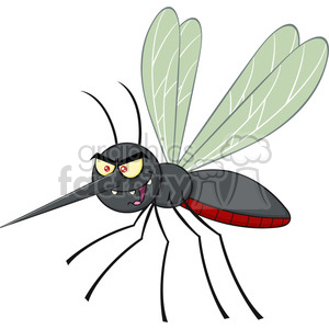 royalty free rf clipart illustration mosquito cartoon character flying vector illustration isolated on white clipart. Royalty-free image # 399607