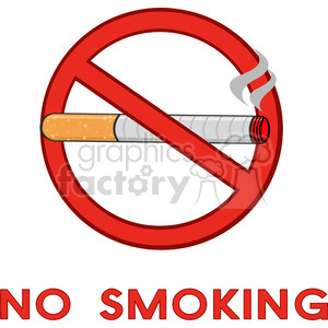 royalty free rf clipart illustration no smoking sign with text vector illustration isolated on white background clipart. Commercial use image # 399667