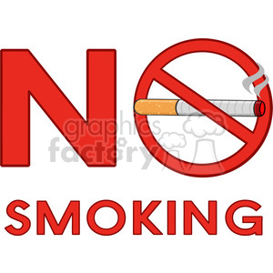 royalty free rf clipart illustration no smoking sign with cigarette and text vector illustration isolated on white background clipart. Royalty-free image # 399695