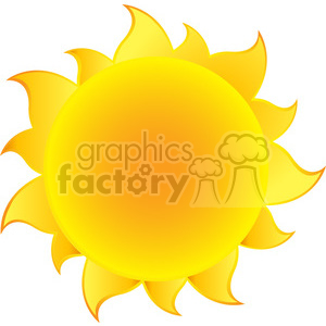 yellow simple sun with gradient vector illustration isolated on white background clipart. Commercial use image # 399946